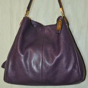 Coach Madison Phoebe Purple Shoulder Bag 26224 EUC
